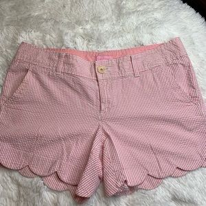 Lily Pulitzer red & white pin striped shorts